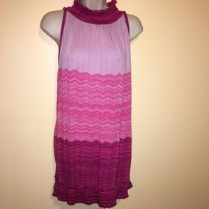 Lane Bryant 18 20 2X Pink Sleeveless Knit Top